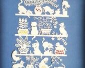 Template, Papercut Template, Paper Cut Template, Papercutting Template, Papercutting, DIY Gift, Commercial, Personal, DIY, France, cats, cat