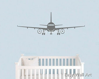 Plane Wall Decal, Flying Plane Wall Decal for Bedroom, Office & Airplane Wall Decal Plane Wall Art Decal #S21