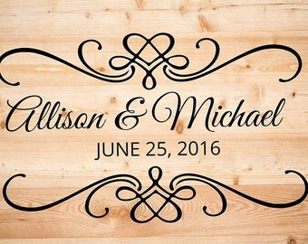 Dance floor decal in Wedding or engagement Party-Decal on lovers' Day children's Party-Personalized Decal in name and anniversary date634Q