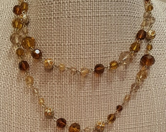 Golden Brown Crystal Chain