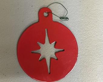 Set of 3 Metal Star Ornaments