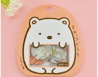 San-X Sumikko Flake Stickers Pack 50PCS-PINK-Kawaii Cat Flake Sticker Set