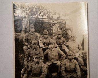 WWII Photo Grouping of Japanese Soldiers