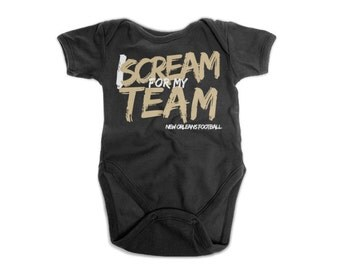 Football Onesie | Football Team Baby Onesie | New Orleans Saints Onesie | Baby Shower Gift | New Baby Gift