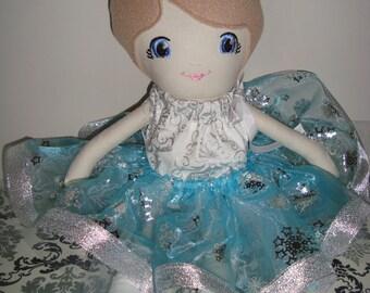 fabric doll. cloth doll, rag doll, Christmas doll