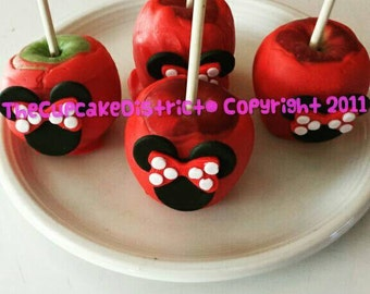 Minnie Mouse Dipped Chocolate Apples