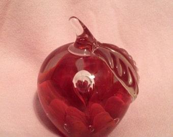 Joe St. Clair Maude Apple  Hand Blaown Glass Paperweight 1976