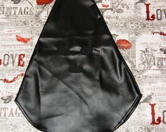 Black Leatherette executioner mask