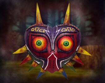 Summer sale! The legend of Zelda: Majora's Wearable Wood-like mask , Zelda collectible