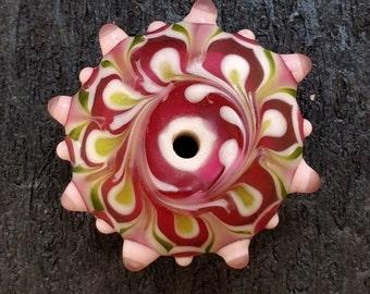 Lampwork Star Glass Bead