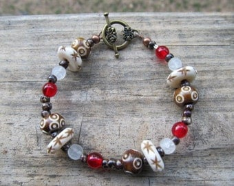 Hippie Bone Bead Bracelet
