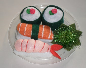 Sushi cat toy set