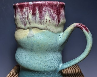 Multilayered and Altered Stoneware Mug