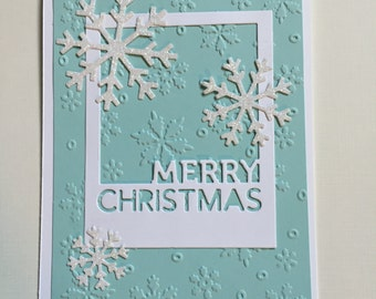 Christmas Card, Holiday Card, Winter Card, Snowflakes
