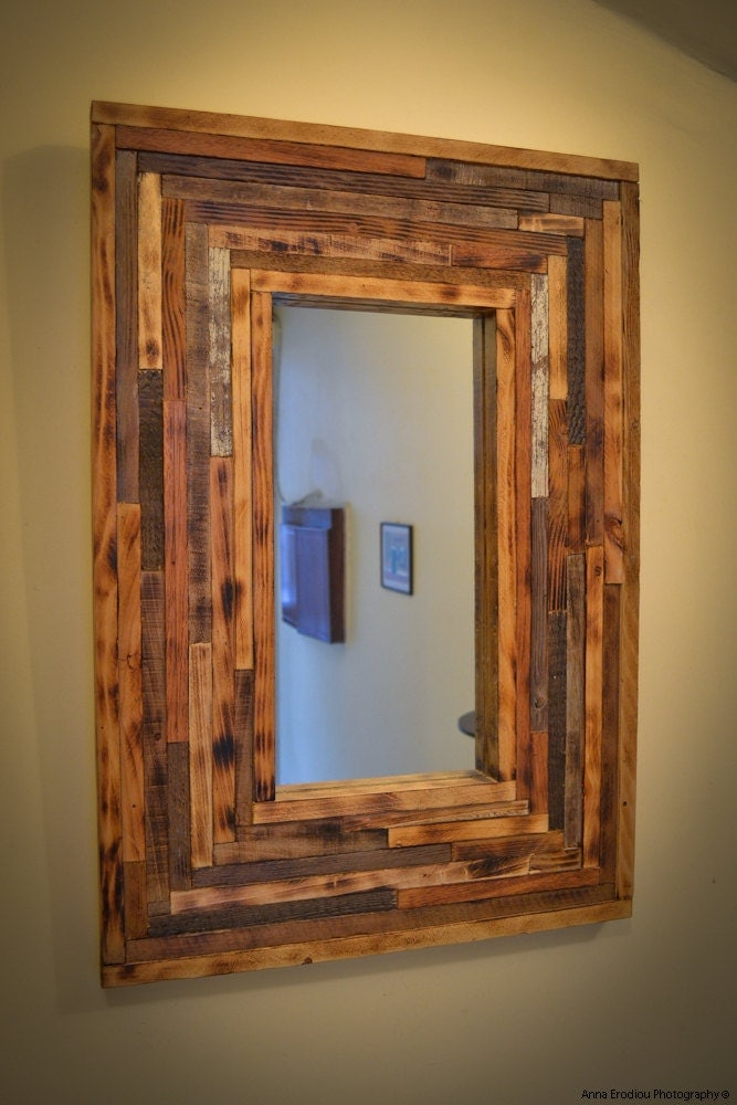Unique Handmade Mirror From Reclaimed Wood Eco Friendly