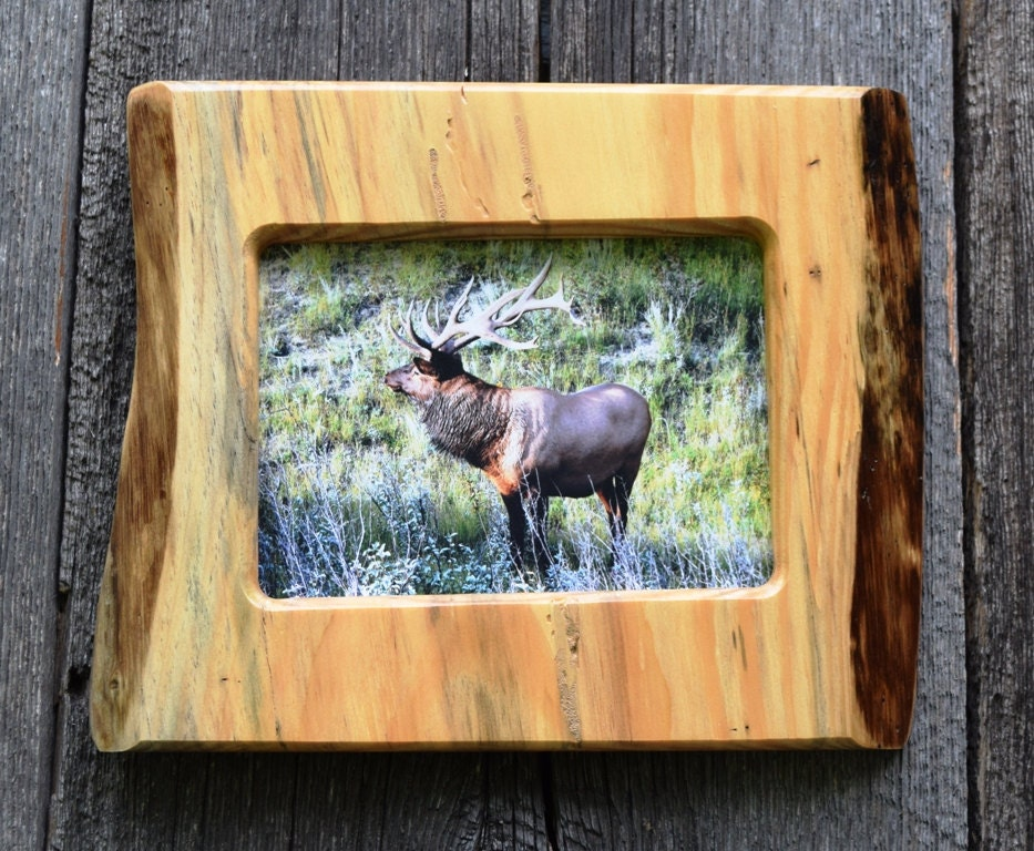 handmade wood picture frames log cabin decor 5 x 7 wood picture frame handmade rustic 409