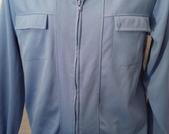 Vintage 1980's Men's Haband Zip Up Jacket shirt blue sz M