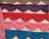 2 Yards 10 Colors Lace Trim Red Gray Green Blue Pink Green Purple Lace Trim 3/4 Inch Wide