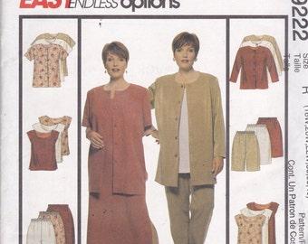 McCalls 9222 Vintage Pattern Womens  Jacket, Dress, Pants, Shorts and Tops Size 18, 20,22 UNCUT