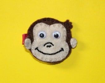 Curious George - Monkey - Hair Clip