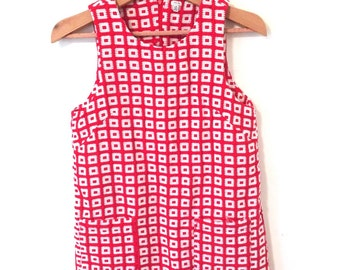 Red and White Mod Dress