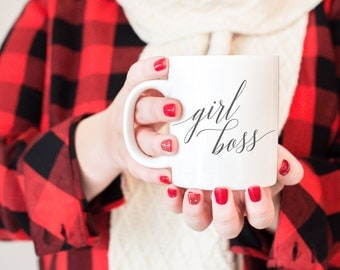 girl boss mug, coffee mug, boss gift, quote mug, gift for boss, boss lady mug, coffee lover, custom mug, funny coffee mug