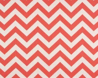 SALE Coral Chevron Zig Zag Zigzag Home Decor Fabric by Premier Prints