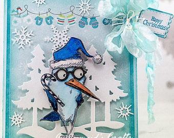 Merry Christmas Crazy Bird Card