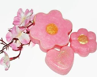 Plumeria Soap Flowers, Homemade Soap, Gift Soap, Party Favors, Wedding Favors,  Small Soap, Conditioning Soap, Natural Soap, PLUMERIA FLOWER