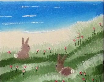 Bunnies on the beach