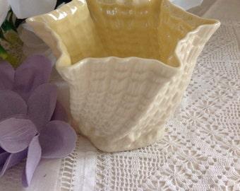 Belleek flower pot. Delicate and pretty