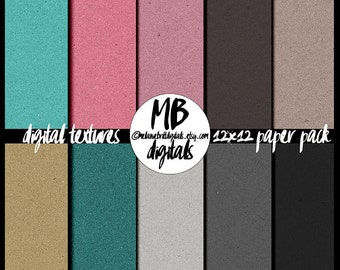 Chipboard digital papers, cardboard, 12x12, digital scrapbooking, commercial use