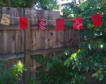 Festival Flags - Patio Flags - Garden Flags - Prayer Flags - Freak Flags - Indoor/Outdoor Custom Upcycled Art