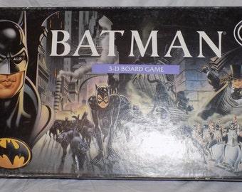 1992 Batman Returns Movie 3D Board Game