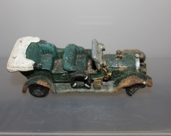 This Roadster is Very Old & Maybe Handmade, It is Very Heavy, Seems Like Metal, But When Broken it Looks Like a Ceramic of Some Kind, LOOK