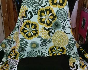 Black & Yellow Floral Apron
