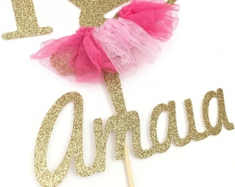Ballerina Cake Topper Personalized (name and age).