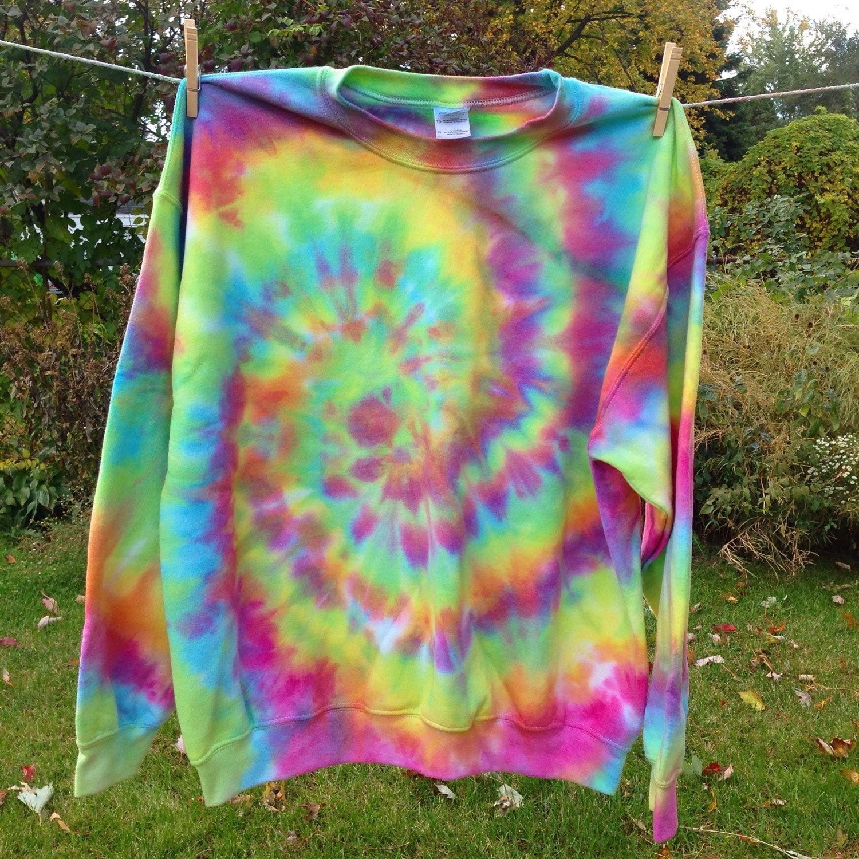 tie dye sweatshirt tie dye crewneck sweatshirt by