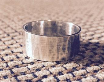 Sterling silver artisan ring