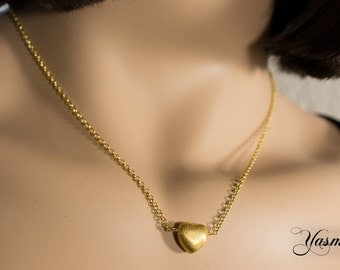 Hearts of Sterling gold plated