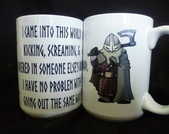 Viking Slogan Mighty Mug, Cider Mug, Skol, Coffee Tea Mug, Warrior, larp