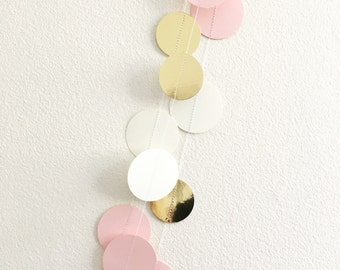 Pink and Gold Paper Garland Wedding Decoration Engagement Photo Backdrop