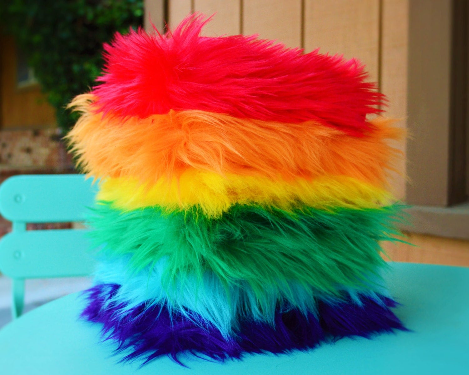 rainbow pack of faux fur fabric fur fabric craft fur