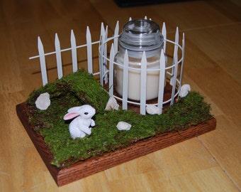 Bunny Candle Holder, Landscape Bunny Candle Holder