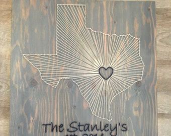 Texas String Art with Text | Made to Order, Custom String Art