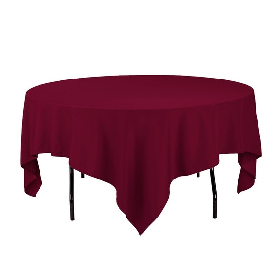 85 inch rectangular burgundy tablecloth polyester by golinen for 85 square tablecloth