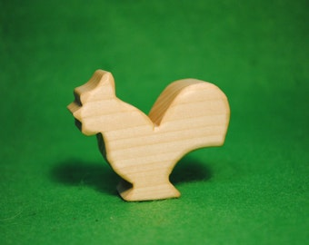 Wood cock - cock Statue - Waldorf Bird - Wood cock - farm wooden birds - cock Toy - Wooden cock - Wood cock bird