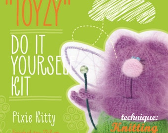 Tz-K003 Toyzy  Kit «Pixie Kitty» -Technique Knitting