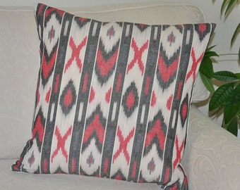 Ikat Cushioncover 50X50cm Handcrafted pillowcover