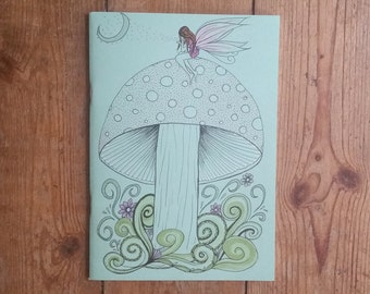 A5 SKETCHBOOK SALE - Fairy Dust - Hand drawn / Illustrated A5 Sketchbook/Notebook/Journal/Diary/sketchbook
